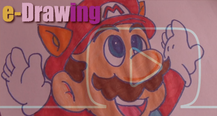 Aprende a dibujar a Super Mario Bros (e-Drawing)